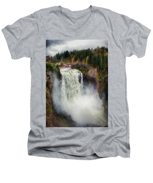 Somewhere Over The Falls Men's V-Neck T-Shirt