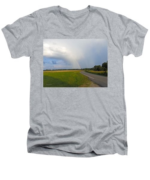 Somewhere Under The Rainbow Men's V-Neck T-Shirt by Nick Kirby