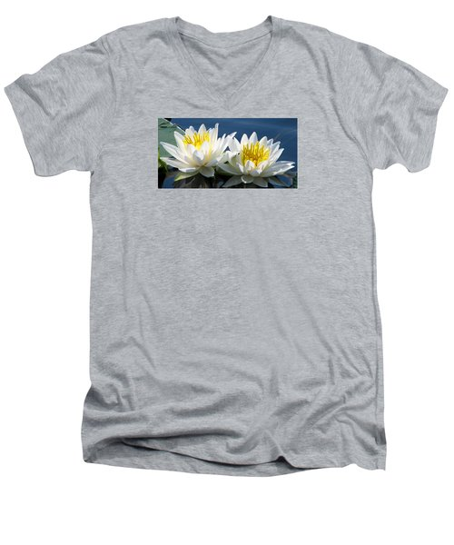 Men's V-Neck T-Shirt featuring the photograph Soulmates by Angela Davies