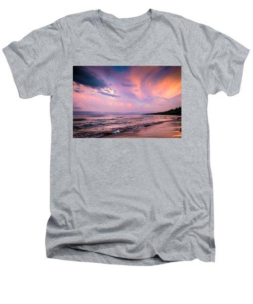 South Beach Clouds Men's V-Neck T-Shirt