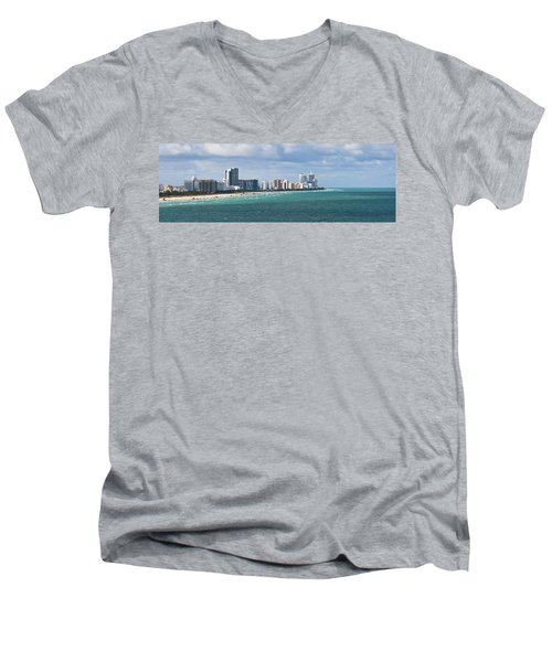 South Beach On A Summer Day Men's V-Neck T-Shirt