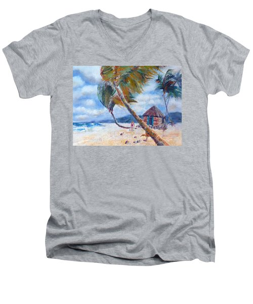 South Pacific Hut Men's V-Neck T-Shirt