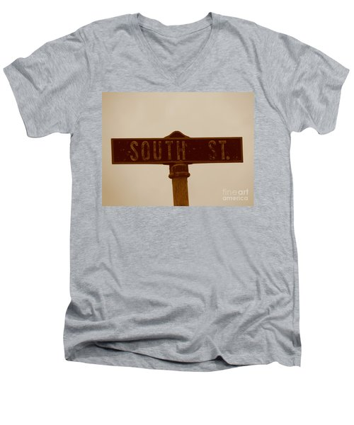 South Street Men's V-Neck T-Shirt