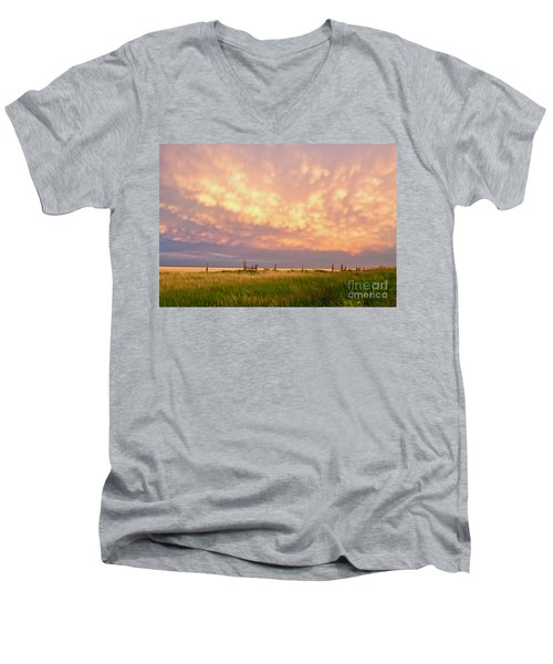 Southeastern New Mexico Men's V-Neck T-Shirt