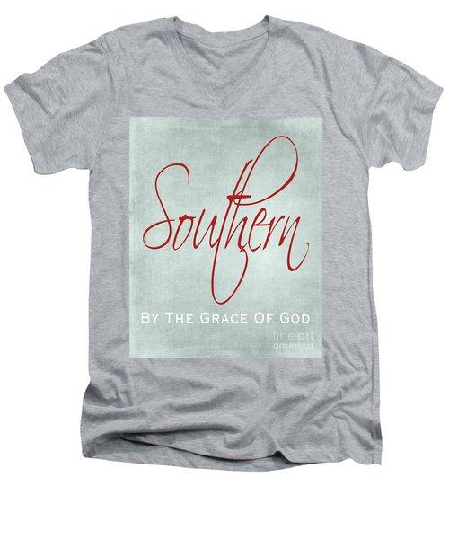 Southern By The Grace Of God Men's V-Neck T-Shirt