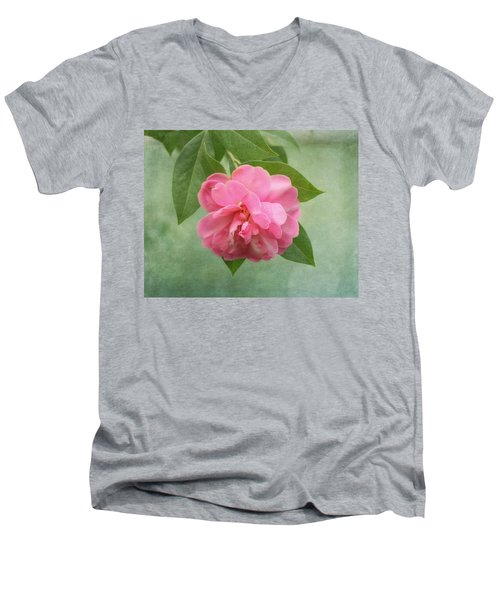 Southern Camellia Flower Men's V-Neck T-Shirt