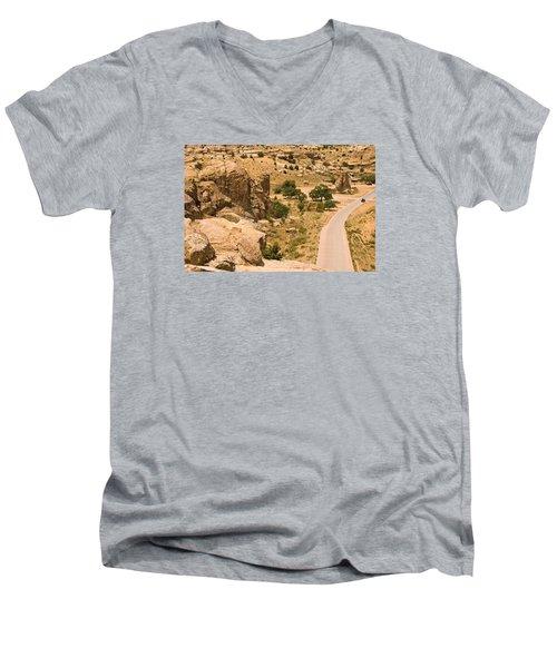 Southern Mesa View Men's V-Neck T-Shirt by James Gay
