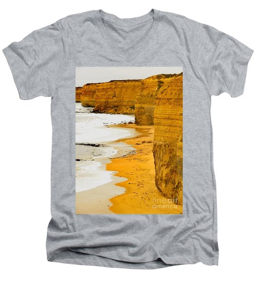Southern Ocean Cliffs Men's V-Neck T-Shirt