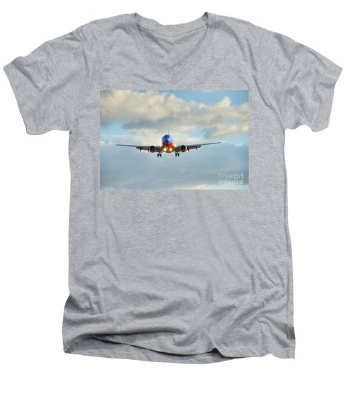 Southwest Airline Landing Gear Down Men's V-Neck T-Shirt