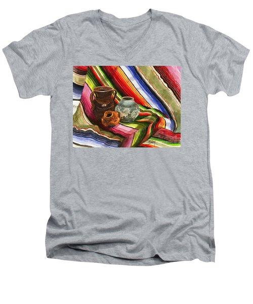 Southwest Still Life Men's V-Neck T-Shirt by Marilyn Smith
