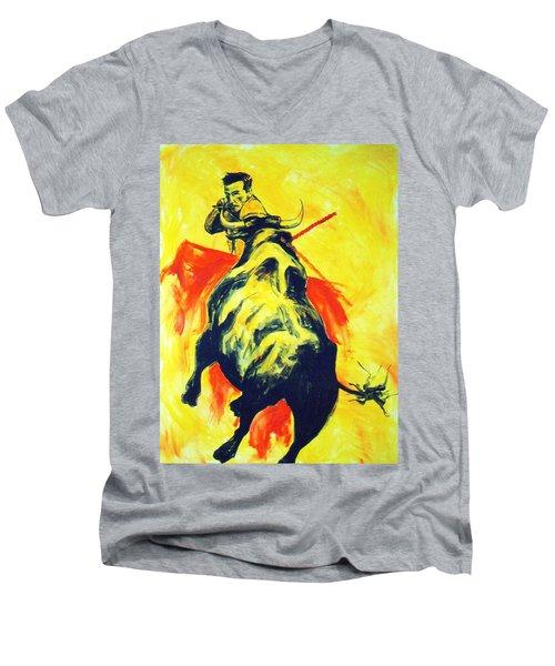 Spanish Bullfight Men's V-Neck T-Shirt