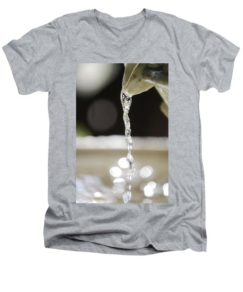 Men's V-Neck T-Shirt featuring the photograph Sparkle by Leticia Latocki