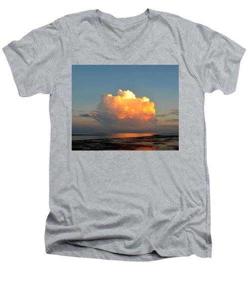 Spectacular Cloud In Sunset Sky Men's V-Neck T-Shirt