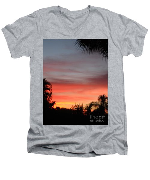 Spectacular Sky View Men's V-Neck T-Shirt
