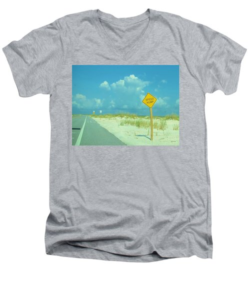 Speed Hump Men's V-Neck T-Shirt
