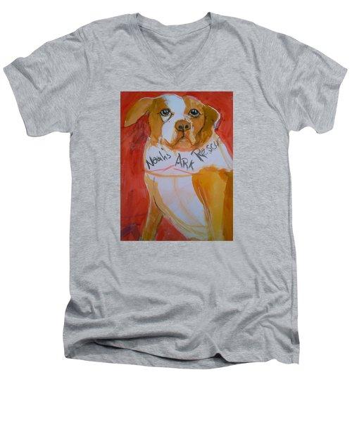 Spencer The Pit Bull Men's V-Neck T-Shirt