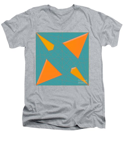 Spider  Mill Men's V-Neck T-Shirt