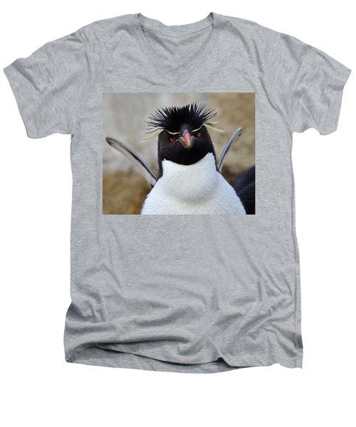 Spiky Men's V-Neck T-Shirt