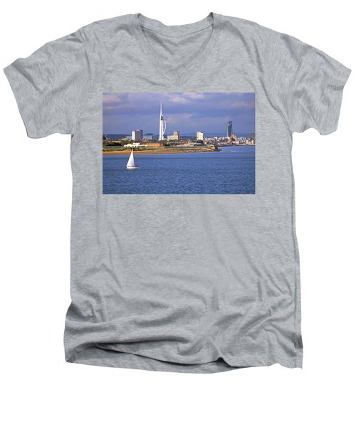 Spinnaker Tower And Gunwharf Quays Men's V-Neck T-Shirt