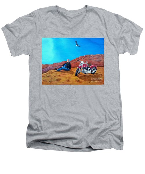 Spirit Eagle Men's V-Neck T-Shirt