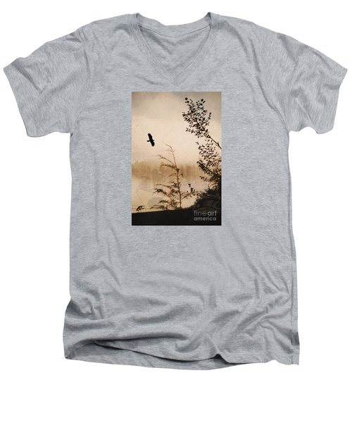Spirit Of Alaska Men's V-Neck T-Shirt