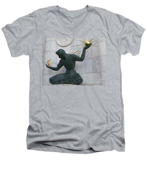 Spirit Of Detroit Men's V-Neck T-Shirt
