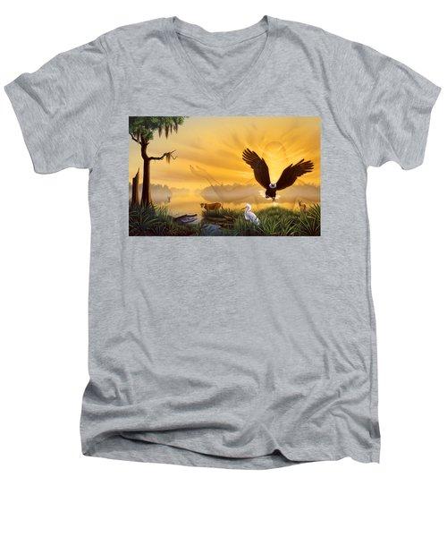 Spirit Of The Everglades Men's V-Neck T-Shirt