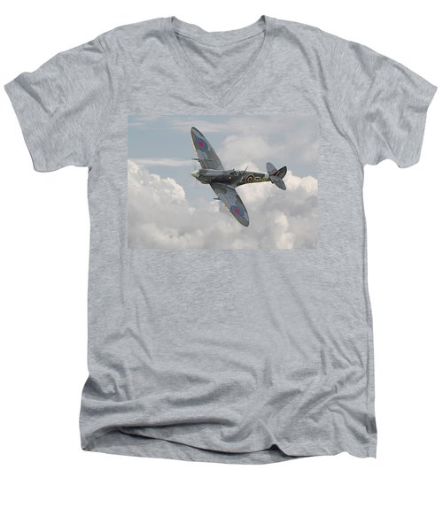 Spitfire - Elegant Icon Men's V-Neck T-Shirt
