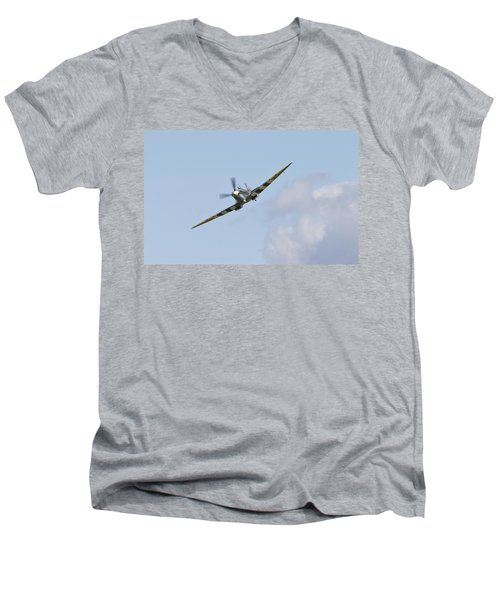 Spitfire Men's V-Neck T-Shirt by Maj Seda