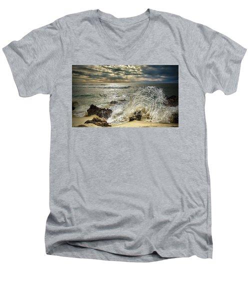 Splash N Sunrays Men's V-Neck T-Shirt by Kym Clarke