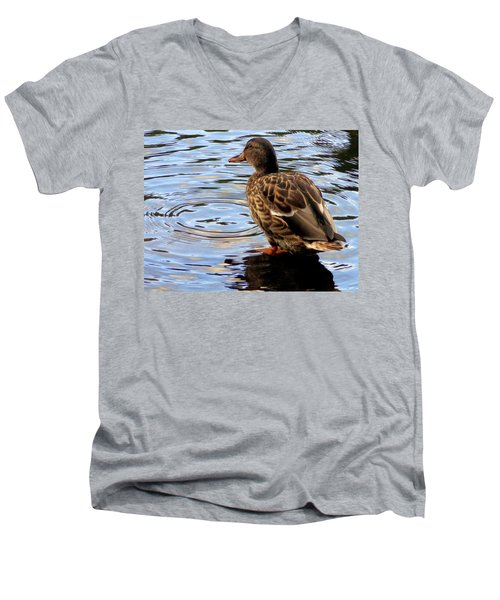 Men's V-Neck T-Shirt featuring the photograph Splish Splash by Joseph Skompski