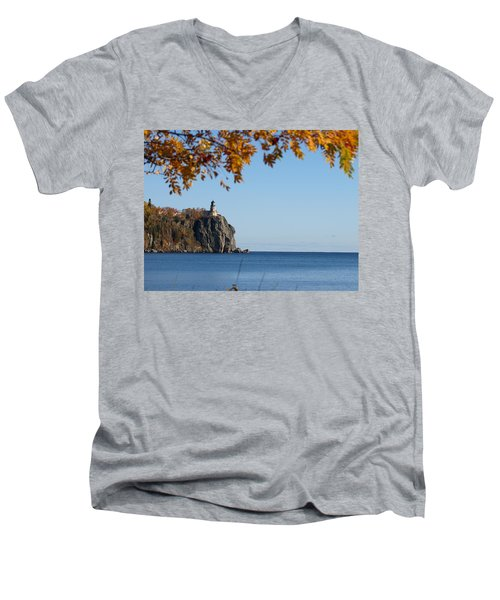 Split Rock Leaves Men's V-Neck T-Shirt