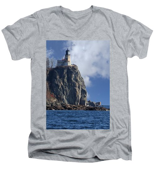Split Rock Lighthouse Men's V-Neck T-Shirt