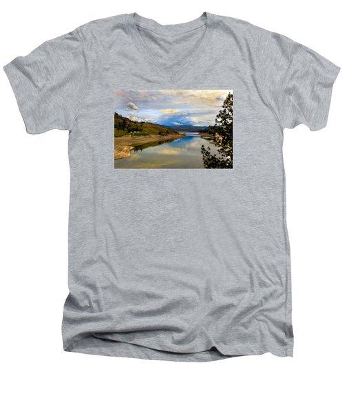 Spokane River Men's V-Neck T-Shirt