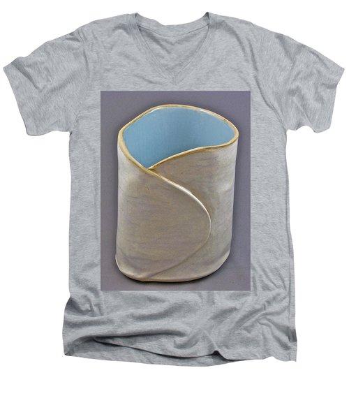 Spontaneous 07-023 Men's V-Neck T-Shirt by Mario Perron