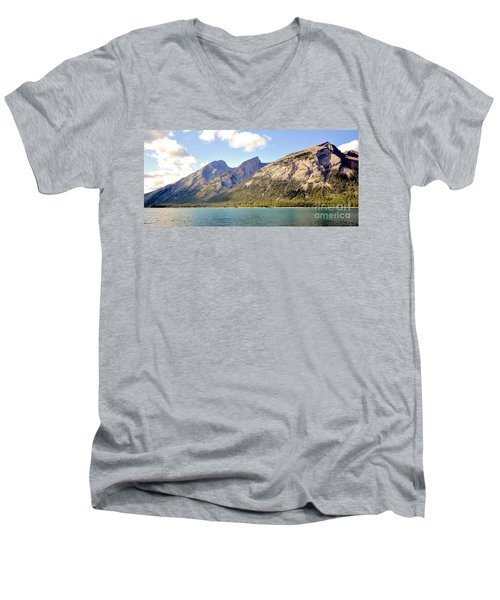 Spray Lake Mountains Men's V-Neck T-Shirt