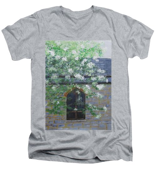 Spring At Grace Church Men's V-Neck T-Shirt