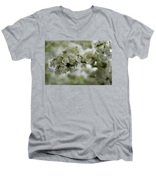 Men's V-Neck T-Shirt featuring the photograph Spring Bloosom by Sebastian Musial