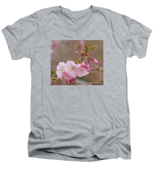 Men's V-Neck T-Shirt featuring the photograph Spring Blossoms by Rudi Prott