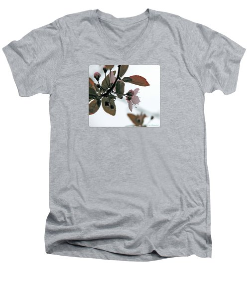 Men's V-Neck T-Shirt featuring the photograph Spring Comes Softly by Chris Anderson