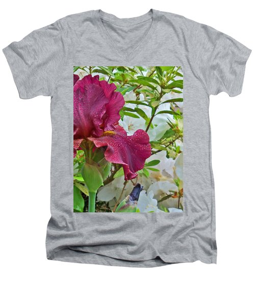 Men's V-Neck T-Shirt featuring the photograph Spring Glow by Larry Bishop
