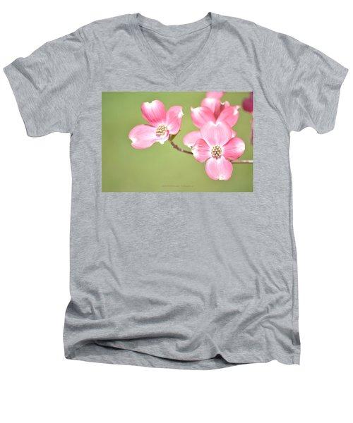 Spring Harbinger Men's V-Neck T-Shirt by Sonali Gangane