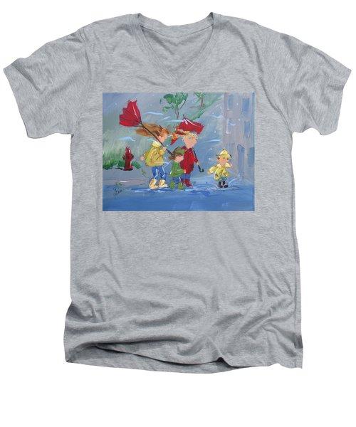 Spring In Our Step Men's V-Neck T-Shirt