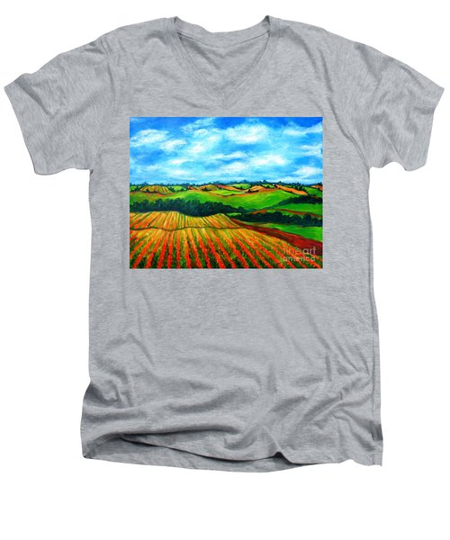Spring In Prince Edward Island Men's V-Neck T-Shirt