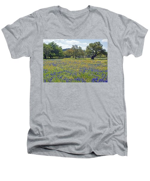 Spring In The Texas Hill Country Men's V-Neck T-Shirt
