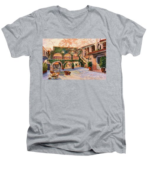 Spring In Tlaquepaque Men's V-Neck T-Shirt by Marilyn Smith