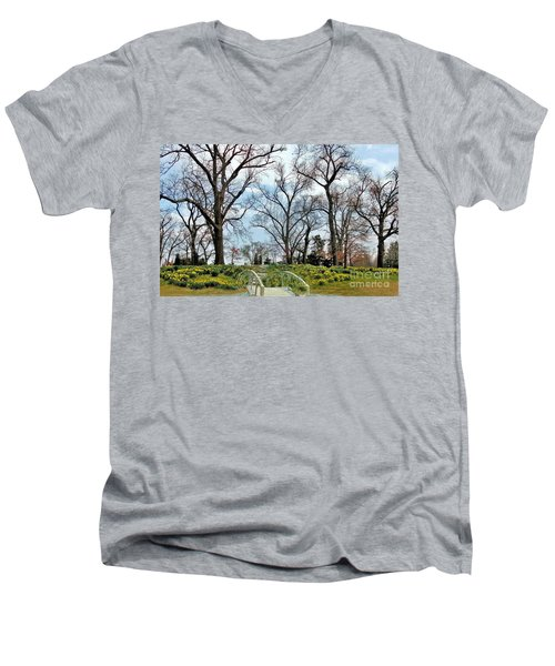 Spring Is Coming Men's V-Neck T-Shirt by Janette Boyd