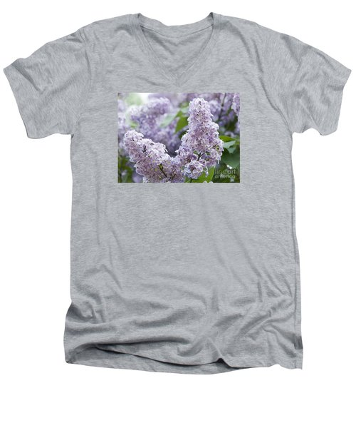 Spring Lilacs In Bloom Men's V-Neck T-Shirt by Juli Scalzi