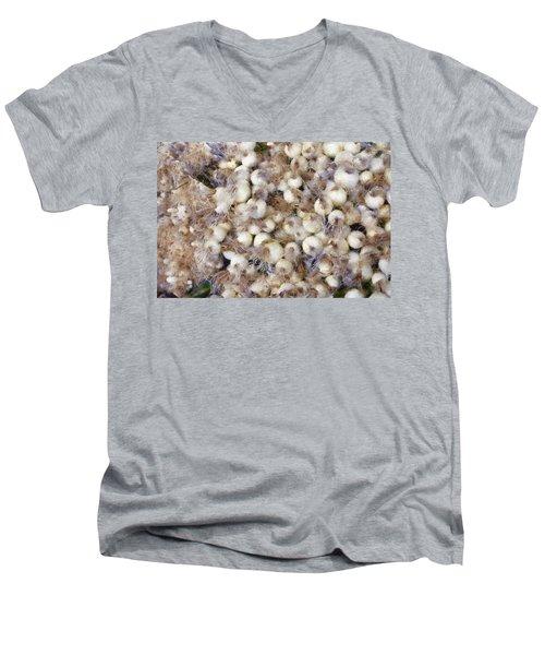 Spring Onions At The Market Men's V-Neck T-Shirt