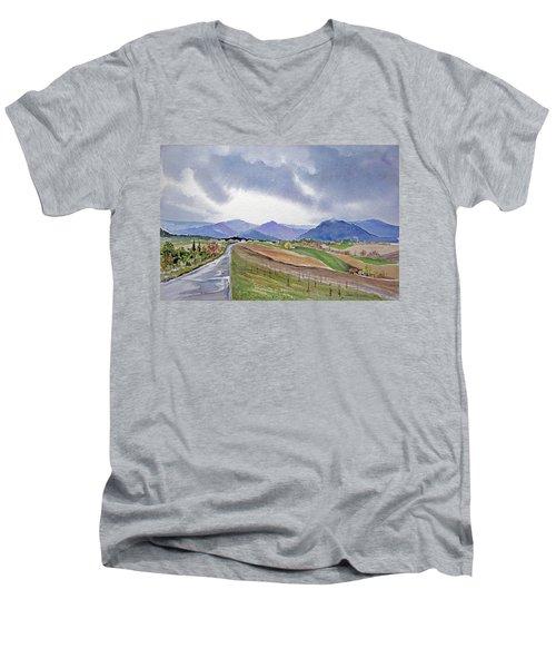 Spring Rain In Tuscany Men's V-Neck T-Shirt